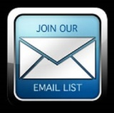 "Link to email list sign up; image of an envelope with ""Join Our Email List"" written around it"