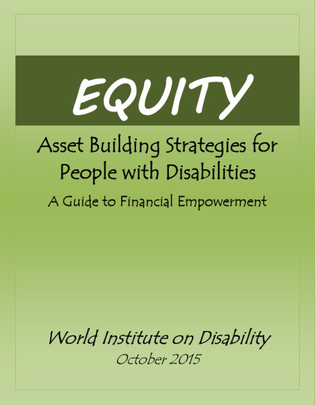"Link to the full text of the EQUITY book; image of the front cover of the EQUITY book: a green background with ""EQUITY"" written in large, white letters"