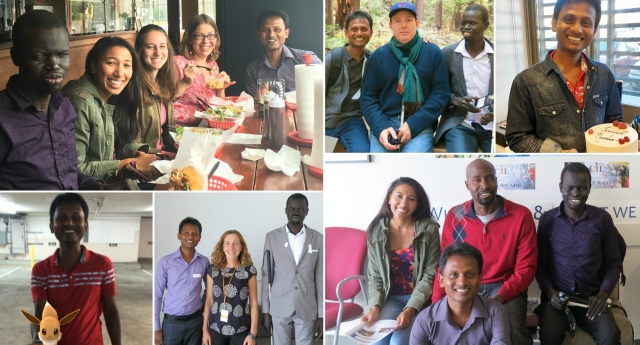 Link to Roshan's Final Project article; image is a collage of photos of WID staff with 2016 international fellows