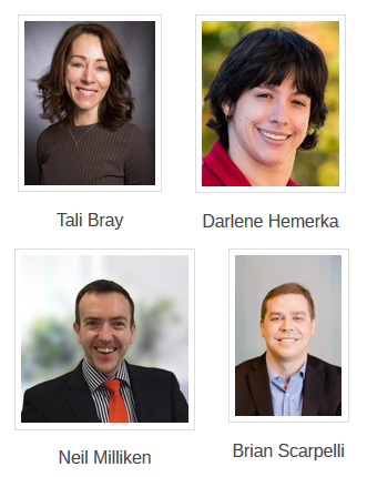 Link to WID Welcomes New Board Members 2018 article; image of four new board members
