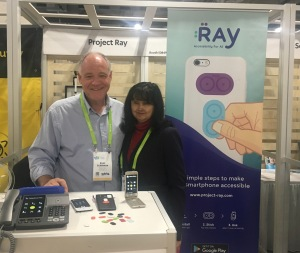 Project Ray booth with products displayed