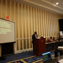 JPMorgan Chase's Rodney Hood describes the Conference Accessibility Initiative in a breakout session | Photo by WID