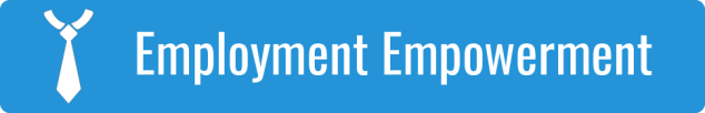 Link to Employment Empowerment; graphic of a white tie on a blue background