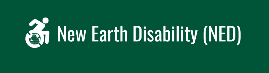 New Earth Disability (NED) banner