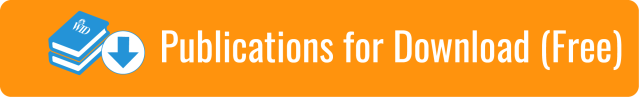 """Link to Publications for Download (Free) page; White text on light orange background. """"Publications for Download (Free)"""". Graphic of blue book with WID logo and blue downward arrow."""