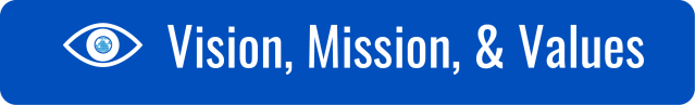 "Link to Vision, Mission, and Values page. White text on dark blue background. ""Vision, Mission, & Values"". Icon of an eye with the WID globe as the pupil."