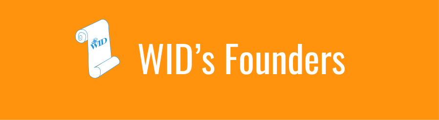 WID's Founders banner. Icon of scroll.