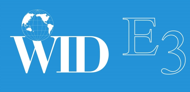 Link to WID Supports the Transformation to Competitive Employment Act article; image of WID E3 logo-a white Globe and E3 in white letters