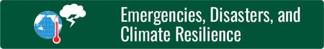 Emergencies, Disasters, and Climate Resilience button