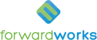 ForwardWorks logo. Green and blue interlocking cube.